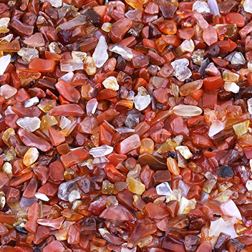 mookaitedecor 450 g de mini pierres précieuses naturelles polies pour la décoration, le magasin, les pierres décoratives pour la décoration de jardin.