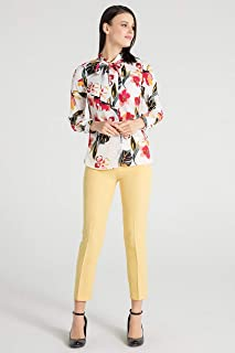Pera-Kadın Flarli Gömlek - Turuncu