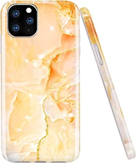 JAHOLAN iPhone 11 Pro Case Gold Glitter Sparkle Marble Design Clear Bumper TPU Soft Rubber Silicone Cover Phone Case for iPhone 11 Pro 5.8 inch 2019 - Gold