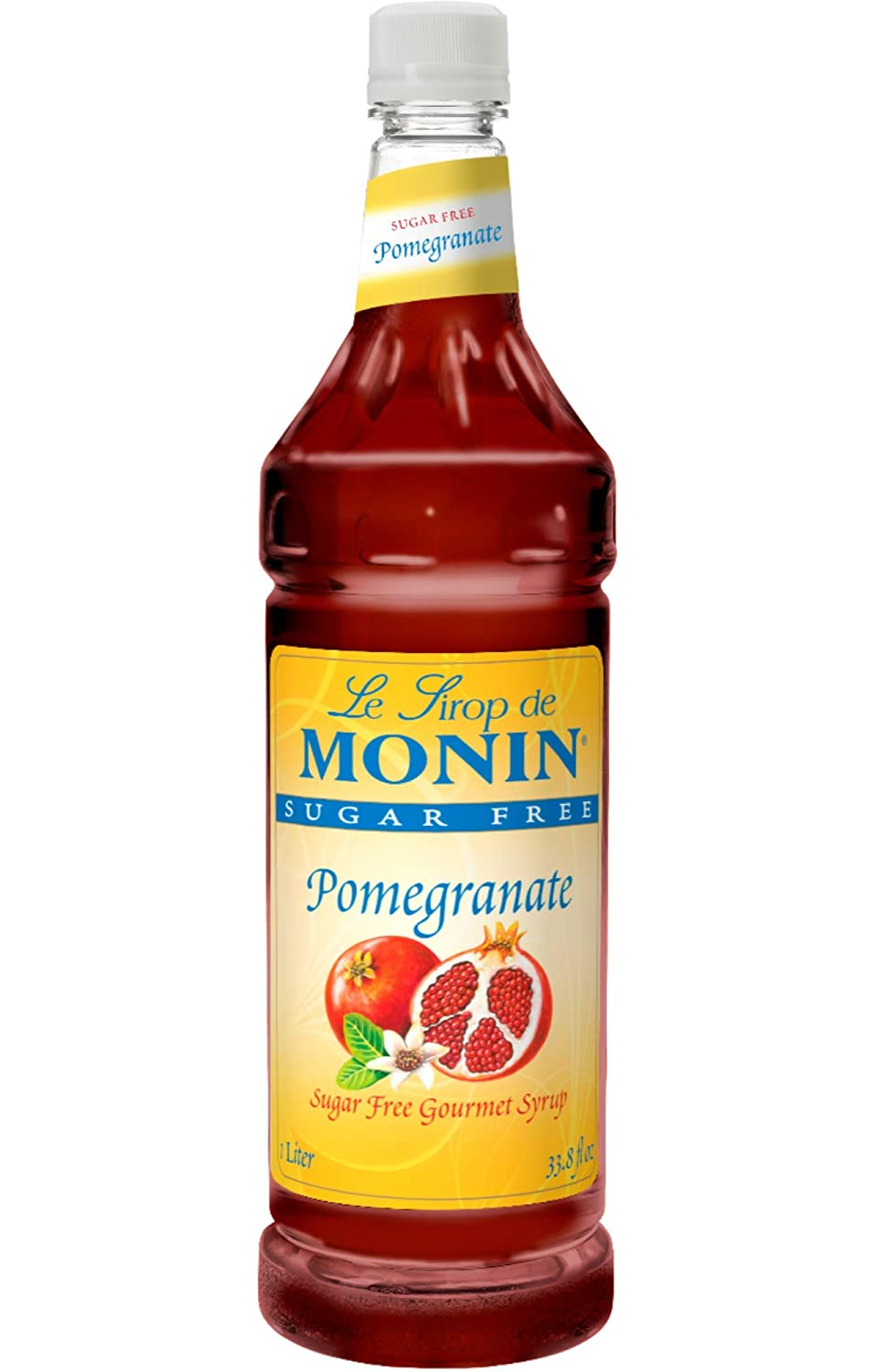 Monin Sugar Free Pomegranate Syrup Max Beauty products 71% OFF Plastic 33.8-Ounce 1 Bottle