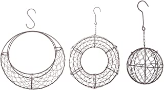 F Fityle 3pcs Iron Frame Wire Wreath Succulent Pot Metal Planter Iron Box Romantic Garden Tool