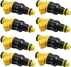 Set of 8 Fuel injectors 4 Holes for Ford F150 F250 F350 E150 E250 E350 E450 Mustang Expedition Excursion Crown Victoria Bronco Econoline Lincoln 4.6 5.0 5.4 5.8 V8 0280150943
