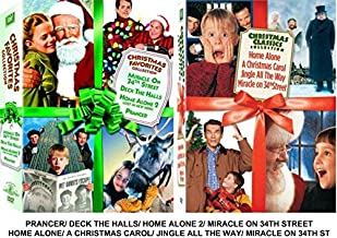 Christmas Favorites & Classic Collection - Ultimate 8-FILM Set (Prancer/ Home Alone 1&2/ Miracle on 34th Street 1947&1994/ A Christmas Carol/ Jingle all the Way/ Deck The Halls)