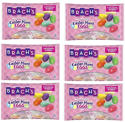 Brachs Easter Hunt Eggs Marshmallow Candy 7 oz (Pack of 6)