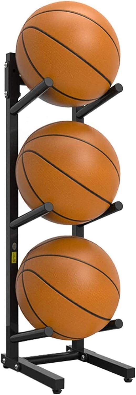 Japan Maker New 3-Tier Vertical Metal 5 ☆ very popular Ball Rack-Football Bask Volleyball Storage