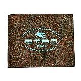 ETRO(エトロ)二つ折り札入れ 財布 メンズ ペイズリー柄 PVCコーティングレザー スカイブルーロゴ 1F557 2184 600 [並行輸入品]
