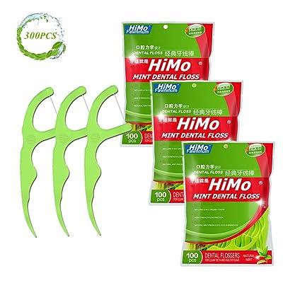 Mint Dental Floss Picks (3 Pack(300 count))