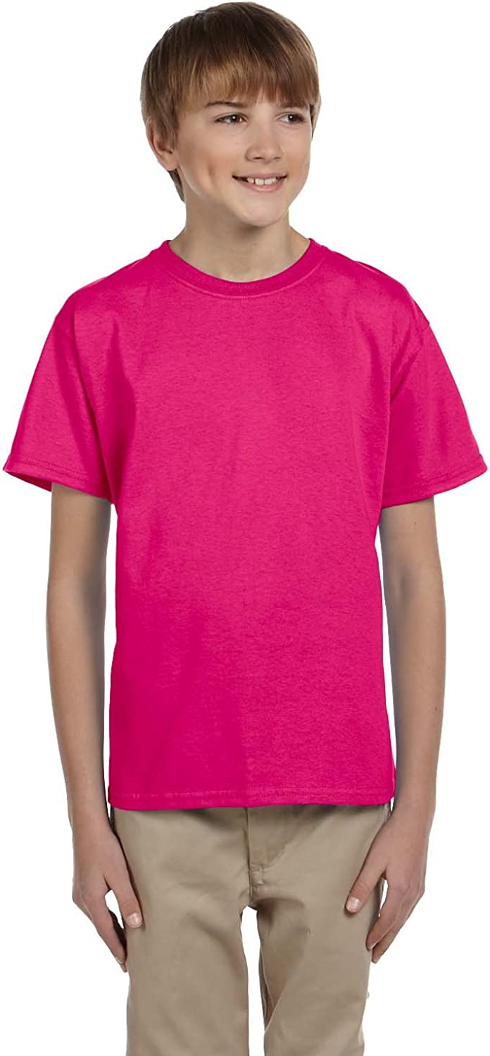Product of Brand Gildan Youth Ultra Cotton 6 oz T-Shirt - Heliconia - S - (Instant Savings of 5% & More)