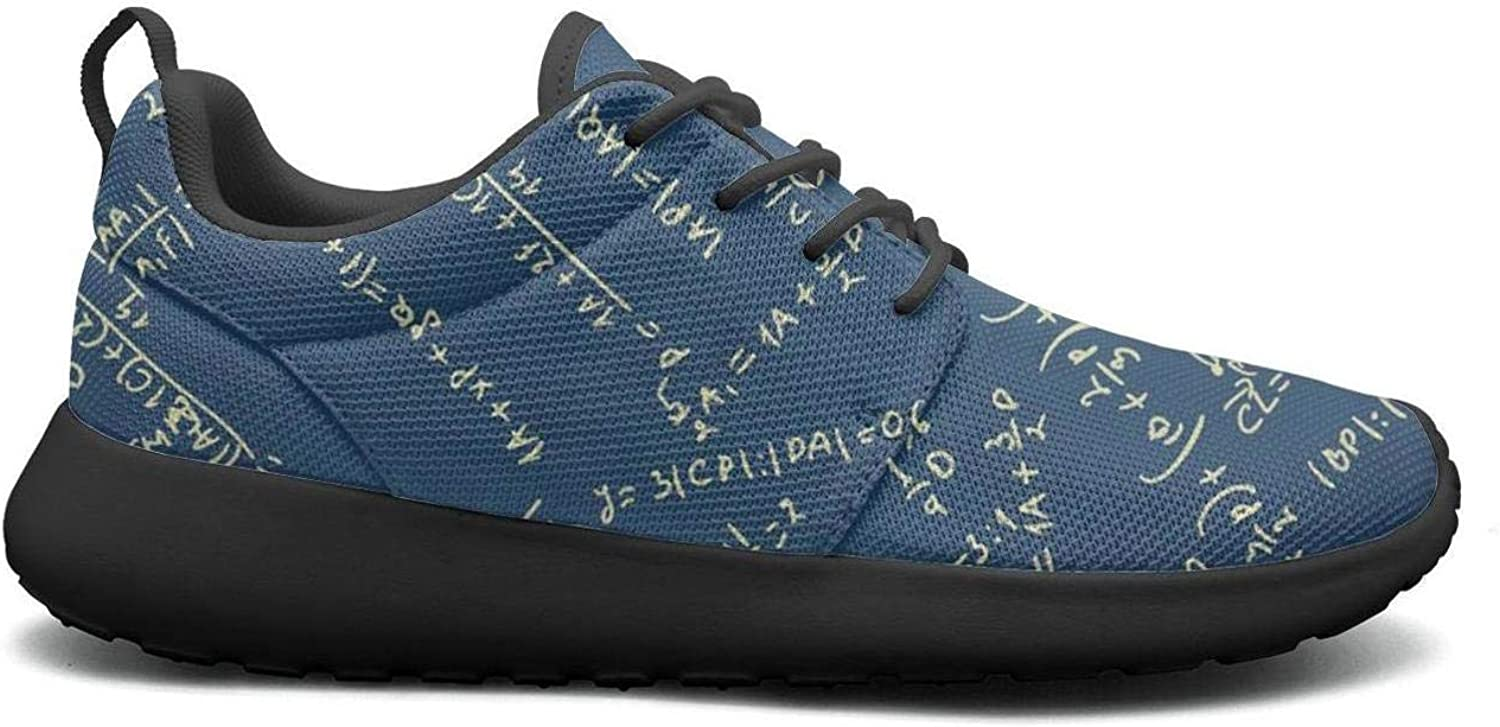 Gjsonmv Maths Equation bluee Backdrop mesh Lightweight shoes for Women Non Slip Sports Tennis Sneakers shoes