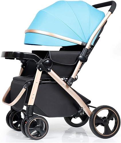 garantizado El cochecito de bebé High Landscape Landscape Landscape puede sentarse y acostarse Bastidor de aluminio Asiento para Niños pequeños Carro recién nacido bidireccional Sillón plegable adecuado para 0-5 años (azul)  ofrecemos varias marcas famosas