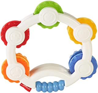 Fischer-Price Core Rattles Tap 'N Play Tambourine Blt37 Toy Accessories, 8-1/10 L x 6-1/3 W x 1-6/10 H