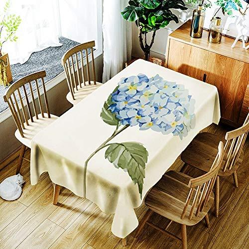 XXDD Mantel de patrón de Planta Creativo Simple Flor Impermeable Mantel para el hogar decoración del hogar A9 135x135cm