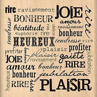 Florilèges Design FF212095 Tampon Scrapbooking Rire Et Plaisir, Beige