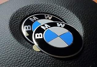 45mm Steering Wheel Adhesive Logo Badge Fits BMW 1 3 5 6 7 Z3 Z4 X5 X6 E46 E90 E39 E60 F10