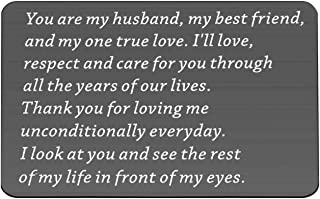 Husband Engraved Wallet Card Insert Husband Birthday Gifts from Wife Groom Gifts You are My Husband My Best Friend and My ...