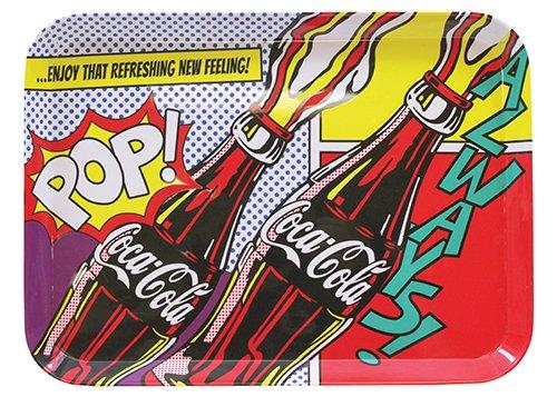 Tablecraft Bandeja gráfica CC390 Coca-Cola Pop, 38 x 28 cm, multicolorida