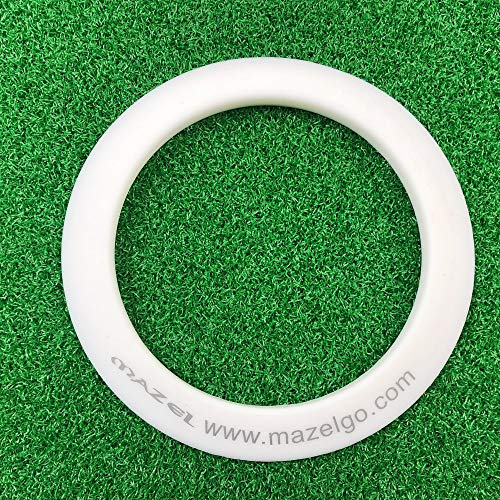 MAZEL Golf Putting Cup/Ring for Training Aid Indoor & Outdoor All-Direction Golf Practice Hole Golf Putting Accuracy Trainer (White Ring)