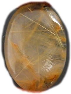Cabujón dorado rutilo, piedra preciosa natural del rutillo, forma de pera 22x17x7.5mm, 23Ct K-02903