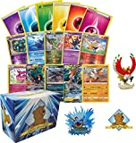 200 Assorted Pokemon Cards - 1 GX Ultra, 2 Rares, 5 Reverse Holographics, 90 Common/Uncommons, 100 Energy Cards, and 1...