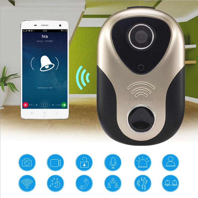ZYJFP Wireless Video Doorbell, Electronic Cat Eye Adjustable Camera Lens Mobile Phone Remote Intercom Home Villa Intelligent Monitoring Alarm
