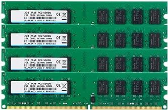 BPX DDR2 PC2-5300, PC2-5300 DDR2 667, DDR2 8 GB Kit (4x2GB) 240-Pin 1.8V 2RX8 CL5 DDR2 RAM UDIMM módulo de Memoria RAM para la Mesa