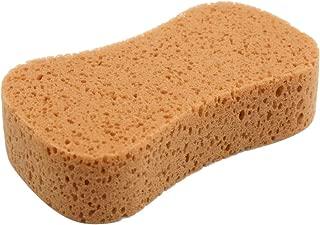 uxcell Car Wash Sponge Auto Windshield Soft Perforated Yellow Washing Sponge Pad