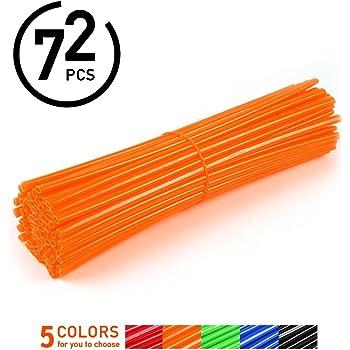 72 coperture protettive in plastica per Raggi di Moto da Cross EXC SX SXS SXF EXCF XC XCF XCW XCFW 125 250 300 450 Arancione YSMOTO
