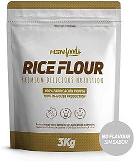 comprar comparacion Harina de Arroz de HSN   Rice Flour   Energía Saludable 100% Natural   Formato de Finísima Textura en Polvo   Vegana, Sin ...