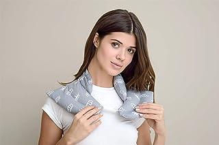 sei Design - Almohada Cervical con Cuello (algodón, 46 x 46 cm), Color Gris