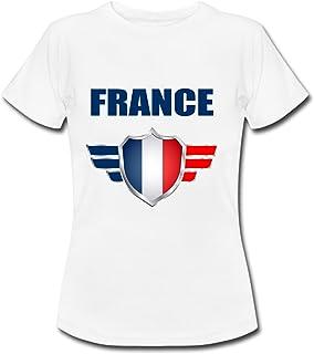 2977c6bb95d20 yonacrea T-Shirt Enfant - France - Coupe du Monde de Football 2018 - Prénom