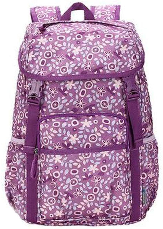 Hongyushanghang Outdoor Travel Bag, Shoulder Bag Female Waterproof Weight Loss Large Capacity Leisure Travel Backpack, Junior High School Student Bag Beautiful (Capacity   30L, Pattern   D)