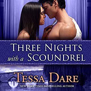 Three Nights with a Scoundrel                   By:                                                                                                                                 Tessa Dare                               Narrated by:                                                                                                                                 Rosalyn Landor                      Length: 11 hrs and 36 mins     124 ratings     Overall 4.2