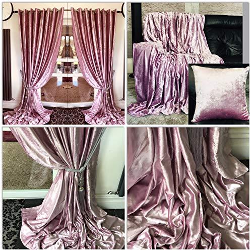 cortinas terciopelo malva