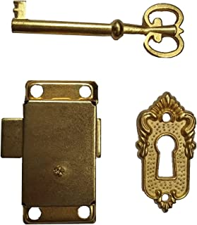 Bronze Small Brass Gold Plated Taro Cabinet Lock Iron Cabinet Door Locker Cupboard Door Lock Spring Door Lock (Brass)