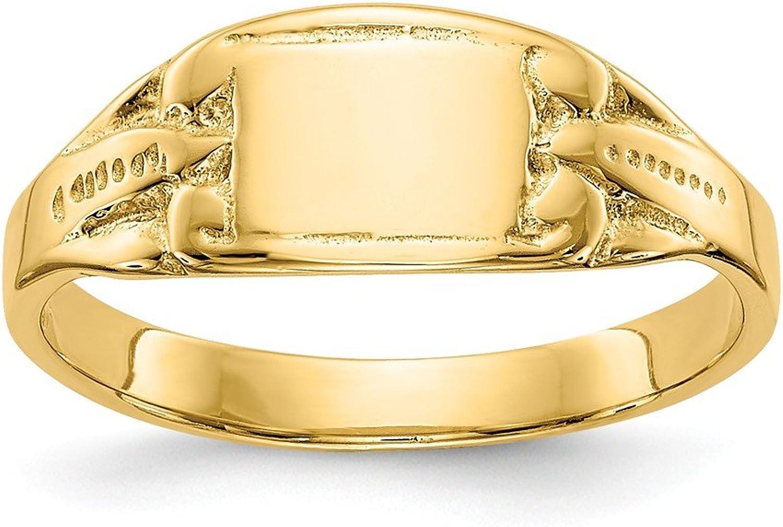 Beautiful Yellow gold 14K Yellowgold 14K Rectangular Baby Signet Ring