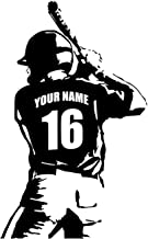 Personalized Custom Baseball Player Wall Decal - Choose Your Name & Numbers Custom Player Jerseys Vinyl Decal Sticker Deco...