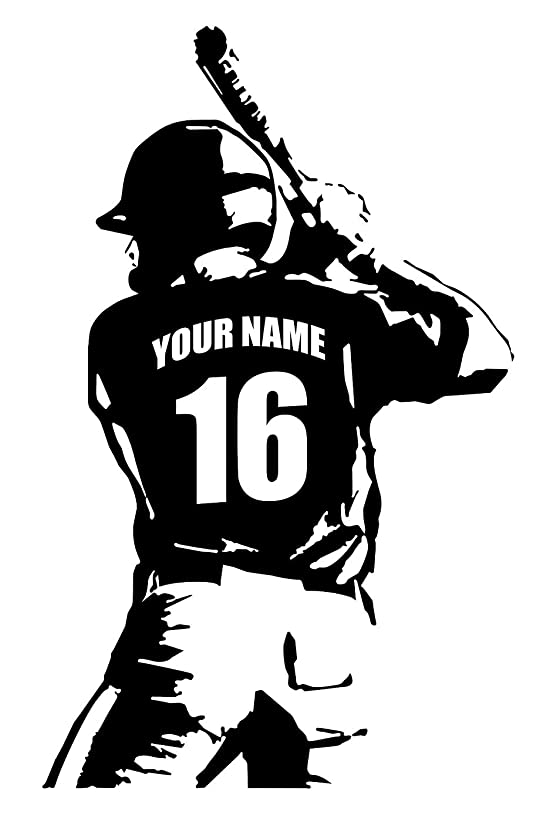 Personalized Custom Baseball Player Wall Decal - Choose Your Name & Numbers Custom Player Jerseys Vinyl Decal Sticker Decor Kids Bedroom (29