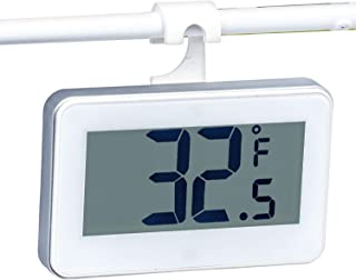 Refrigerator Thermometer -Shelf Mounted -Large Digital Readout-Warm Temp Warning