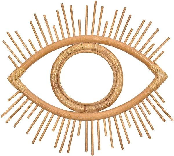 藤编镜框波西米亚复古几何眼睛挂墙镜框工艺照片画框柳条墙面艺术装饰