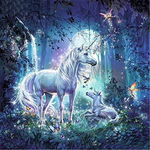 VFDGB Unicorn Moederschap Paard Dier Digitaal Schilderen Nummers Muur Olieverfschilderij Unieke Verjaardagscadeau Home Decor