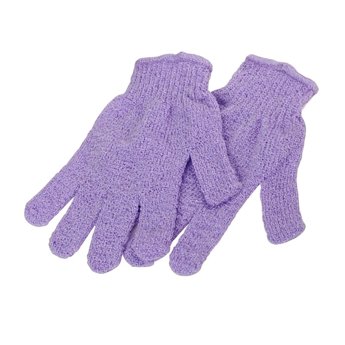 風邪をひく自信があるニックネームSUPVOX 2対のシャワー用手袋浴体剥離手袋(ランダムカラー)