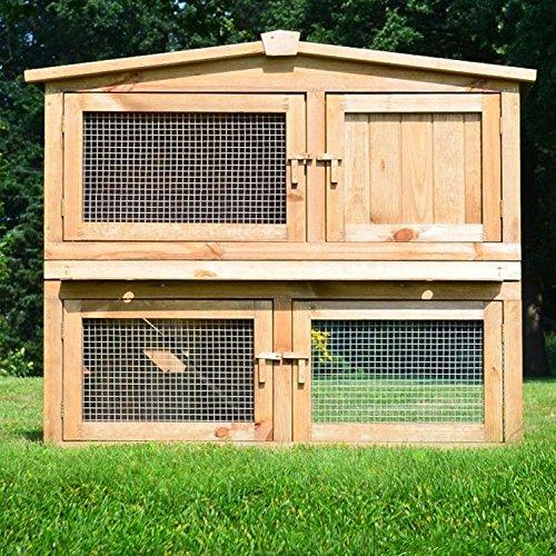 zooprinz Kaninchenstall Obelix Outdoor Kleintierkäfig für Hasen, Zwergkaninchen, Meerschweinchen, Frettchen