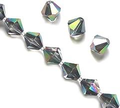 100pcspcs 6mm Adabele Austrian Bicone Crystal Beads Metallic Scarabaeus Green Compatible with Swarovski Crystals Preciosa 5301/5328 SSB631