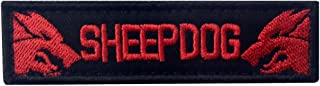 Sheepdog Tactical Military Embroidered Morale Hook & Loop Patch - Red