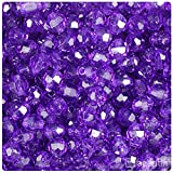 BeadTin Amethyst Transparent 8mm Faceted Round Craft Beads (450pcs)