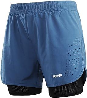 ARSUXEO Men's Active Training Running Shorts 2 in 1