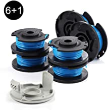 AblerV String Trimmer Replacement Spool Line Compatible with Ryobi One+ 18-Volt 24V 40V AC14RL3A,Weed Eater String Autofeed Line with AC14HCA Cap Covers Cordless String Trimmers (6 Spool + 1 Cap)