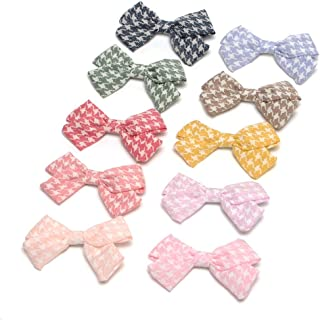 Cotton and Linen Bow Hair Accessories Hair Bow Clip for School Girls