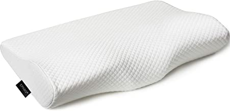 EPABO Contour Memory Foam Pillow Orthopedic Sleeping Pillows, Ergonomic Cervical Pillow for Neck Pain - for Side Sleepers, Back and Stomach Sleepers, Free Pillowcase Included (Firm & Queen Size)
