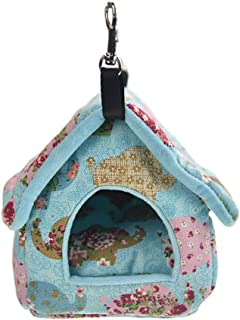 FLAdorepet Guinea Pig Hanging Bed House Hamster Hammock Snuggle Sack Winter Warm Squirrel Hedgehog Chinchilla Hideout Cage Nest Small Animal Accessories